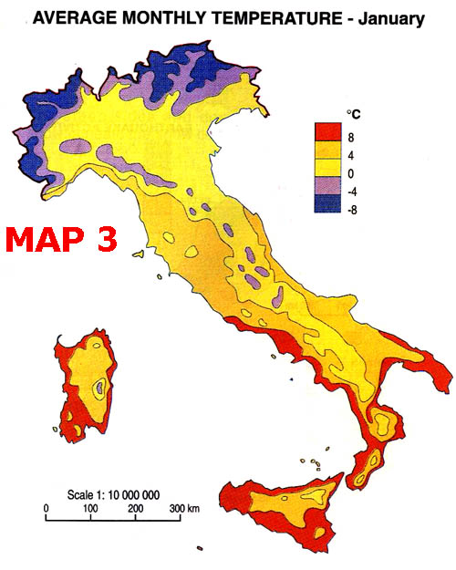 Areas Of Italy Map.Klb School Geography Italy Climate